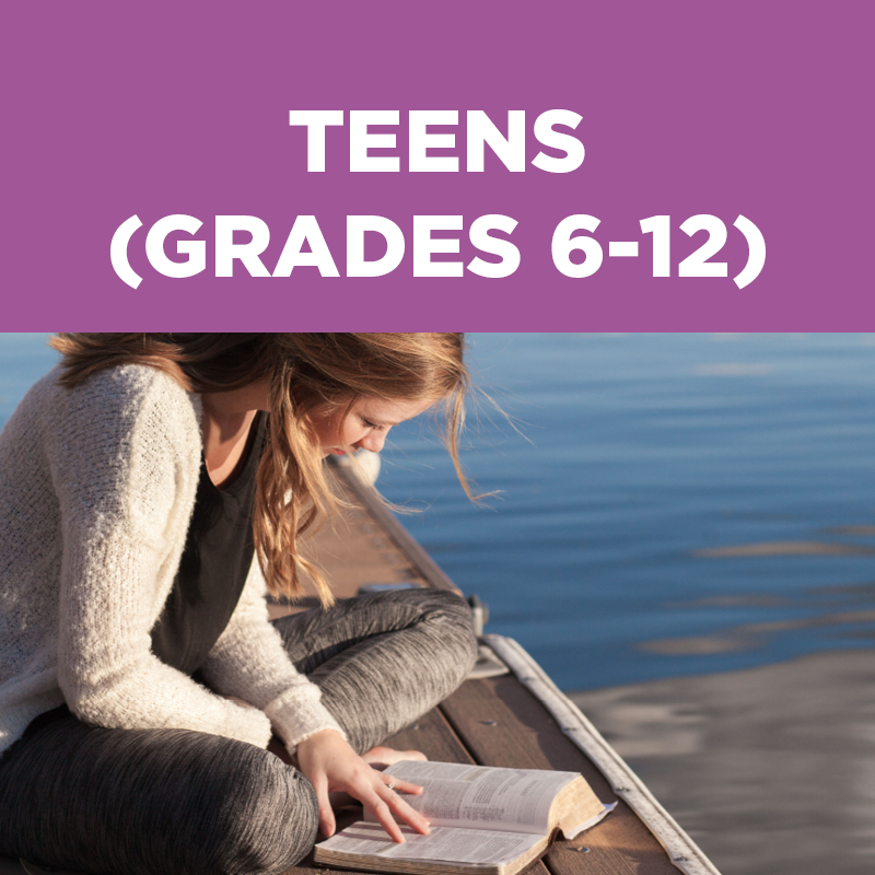 Teens ages 13 through 18